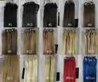 """Women 18""""-26"""" Remy Hair Extensions Micro Loop Tube Tip Hair 50g&100g All Color"""