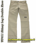 Dickies Mens WP811 DS Skinny Leg Straight Fit Double Knee Work Pant Desert Sand