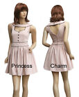 Beige Retro Vintage Inspired Short Cocktail Party Dress for Winter Size 8 10 12