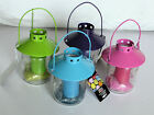 Bright Coloured Glass Jar Candle Holder Garden with candle  New