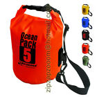 Ocean Dry Pack Waterproof Kayak Shoulder Money Red Travel Bag 5L 5 Litre Pack