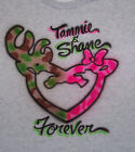 AIRBRUSHED PERSONALIZED DEER COUPLE T SHIRT NEW 3 COLOR CHOICES, S,M,L,XL