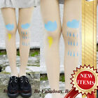 Blue Cloud / Minnie Tattoo Punk Rock Sexy Super See Through Tights Leggings S-M