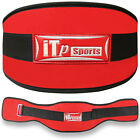 weight lifting belt gym exercise back support training belts red-black (497)