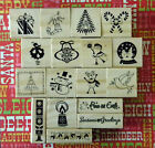 New You Choose Christmas Themed WM Rubber Stamps. Scrapbooking, Invitations!