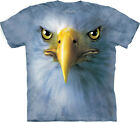 New EAGLE FACE Patriotic Bird USA Adult TEE T-SHIRT Sizes S - 3X