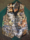 Mens Satin CAMO Wedding Prom VESTand TIE COMBO Custom Made in the USA