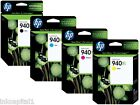 HP No 940XL Multi Pack Set of 4 Original OEM Inkjet Cartridges B,C,M,Y Officejet