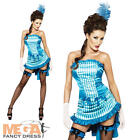 Lady Elegance Saloon Girl Burlesque Western Fancy Dress Costume Outfit UK 6-14