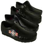 Mens Lambretta Black Leather Formal Dress Shoe Office School Loafer Shoes 6-12