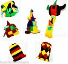 Funny Adult Court Jester Fancy Dress Hat Clown Joker Hats UK