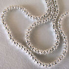 """2.0 MM Shiny 925 Sterling Silver Popcorn Link Chain 3.6 Grams 18"""" & 20""""  Lengths"""