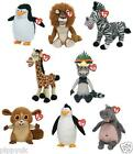 TY BEANIE BABY ~ MADAGASCAR SERIES ~ CHOOSE YOUR CHARACTER SOFT PLUSH TOY