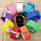 10 Candy Color Choice Fashion Mirror Face LED Men Lady Sport Watch + Gift Box