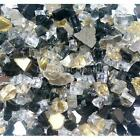 "Gold Rush 1/4"" 1-120 lbs Fireglass Fire Glass Fire Pit Fireplace Crystals Logs"