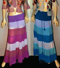 Hippie Hippy Boho Crocheted Waist Long Ladies Skirt Kosmic Kolours 10-14