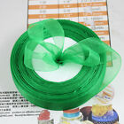 "50 Yards 3/4""(20mm)Wedding Party Craft Organza Ribbon 30 kinds of colors U pick"