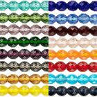 Huge Wholesale Lot of 1,200 Transparent Czech Glass Round Fire Polished Beads