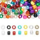 Huge Bulk Lot of 900 Plastic 9mm x7mm Pony Crow Beads with a Large 4mm Hole