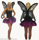 UK Size 8-16 Purple Pink Black Tutu & Fairy Wing Easter Fancy Dress Fae