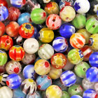 Mixed Round MILLEFIORI Glass BEADS - Choose 4mm, 6mm & 8mm