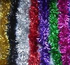2M(6.5FT)x90mm Tinsel Christmas Tree Decorations X'mas Garland Choose 11 Colour
