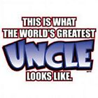 NICE GIFT~WHAT WORLD'S GREATEST UNCLE LOOKS LIKE~WHITE SLEEVELESS T-SHIRT~S--2XL