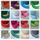 PLAIN PLEATED GATHERED picot / lace edge FABRIC TRIM  RIBBON PLISSE all colours
