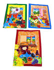 Kitchen Fruit Themed Cotton Tea Towels 45cm x 67cm Blue Green Wine Border