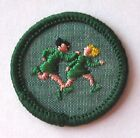 1963-1980 Girl Scout Junior WORLD GAMES BADGE Choose Fabric/Year Running Patch