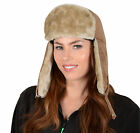 Unisex Suede Feel Trapper Hat With Faux Fur Trim & Quilted Lining 58cm Or 59cm
