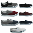 New Mens Flat Canvas Plimsolls Pumps Boys Plimsoles Sneakers Trainers Uk sizes