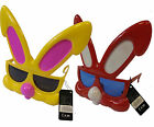 Red Or Yellow Easter Bunny Rabbit Fun Sunglasses Fancy Dress Glasses