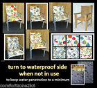 LOW ARMCHAIR CUSHION FOR GARDEN FURNITURE COTTON PRINT chair seat pad waterproof