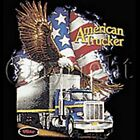 USA~FLAG~BALD EAGLE~AMERICAN TRUCKER~~BLACK TANK TOP~~S-2XL~~FRONT OR BACK