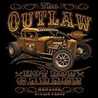 AUTOS~~THE OUTLAW~~HOT ROD GARAGE~~ROADSTER~CRUISER~~BLACK TANK TOP~S-2X
