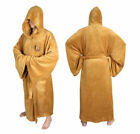 STAR WARS JEDI OBI-WAN KENOBI Fleece Hooded Dressing Gown Bathrobe (Adult Sizes)