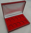 Deluxe Gold Sovereign Padded Coin Case for 10 x Full or Half Sovereigns Red