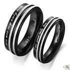 1pc Black Memory Titanium Steel Couple Ring