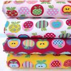 APPLE TIME - NOVELTY APPLES dots stripes childrens kids POLY COTTON FABRIC