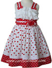 New Beautiful girls Minnie red and white polka dot dress 17715