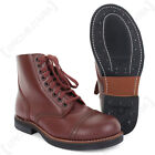US Army WW2 Repro Leather 1939 SERVICE SHOES- All Sizes American Brown Low Boots