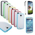 Ultra-thin Colors Frame TPU Clear Matting Cover Case For Samsung Galaxy S4 i9500