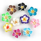20pcs Flower Fimo Polymer Clay 5-leaves Plumeria Beads 15mm Pick Color