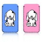 'CUTE SPOTTY DOG' (S) Mobile Phone Pouch Case Cover for SAMSUNG CHAT 357 - UK