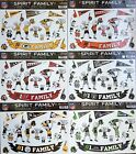 Spirit Family Decals 17 Pack (NEW) Auto Car Stickers Emblems NFL -Pick Team $3.99 USD on eBay