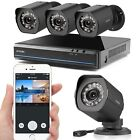 Zmodo 4CH NVR 720P HD Network Outdoor sPoE CCTV Home Security Camera System