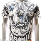 m121w Minute Mirth M L XL T-shirt Vtg Classic Skull Ghost Rose Fire Trendy Indie