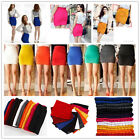 Womens Sexy A-Line Mini Skirt Slim Seamless Stretch Tight Short Fitted Dress