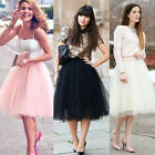 New Dress 5 Colors Women Girl Tulle Bouffant Skirt Princes 2015 free size